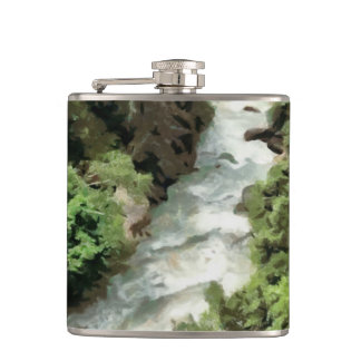 Fast moving river hip flask