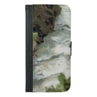 Fast moving river iPhone 6/6s plus wallet case