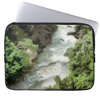 Fast moving river laptop sleeve