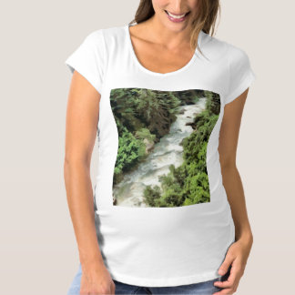 Fast moving river maternity T-Shirt