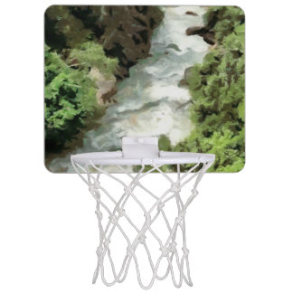 Fast moving river mini basketball backboard