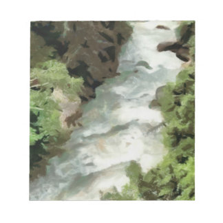Fast moving river notepad