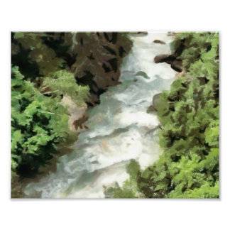 Fast moving river photo print
