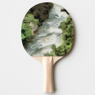 Fast moving river ping pong paddle