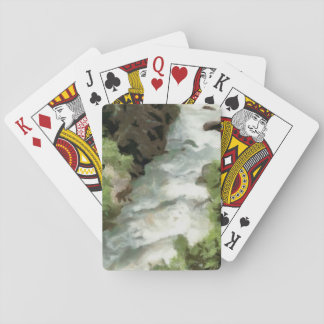 Fast moving river playing cards