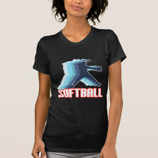 Fast Pitch Softball Silhouette Tshirts