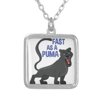 Fast Puma Silver Plated Necklace