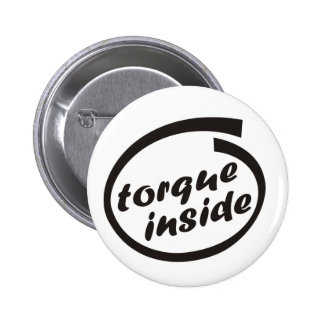 Fast racing car engine: torque or horsepower (hp) 2 inch round button