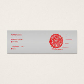 Fast. Rush. Symbol in Red on Gray. Mini Business Card