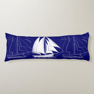Fast sailing! nautical boy's room body pillow