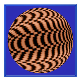Fast Spinning Globe Optical Illusion Poster