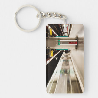 Fast train AT the station Keychain