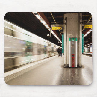 Fast train AT the station Mouse Pad