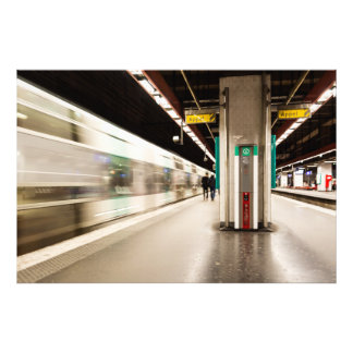 Fast train AT the station Photo Print