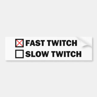 Fast Twitch Bumper Sticker