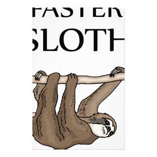 faster sloth custom stationery