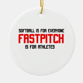 FastPitch Ceramic Ornament