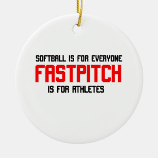 FastPitch Double-Sided Ceramic Round Christmas Ornament