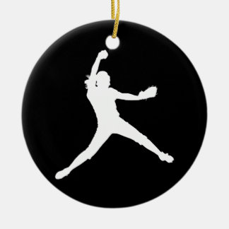 Fastpitch Ornament w/Name Black