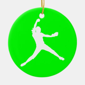 Fastpitch Ornament w/Name Green