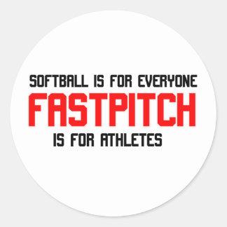 FastPitch Round Sticker