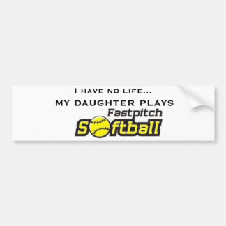 fastpitch-softball-clipart-11, I have no life..... Bumper Sticker