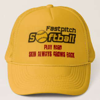 fastpitch-softball-clipart-11_small, Play Hard,... Trucker Hat