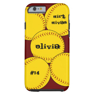 Fastpitch Softball iPhone 6 case Tough iPhone 6 Case