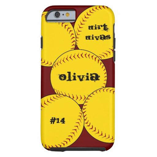 Fastpitch Softball iPhone 6 case