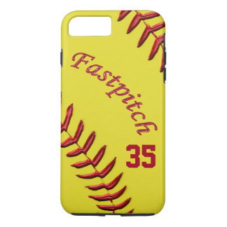 Fastpitch Softball iPhone Plus Case, Jersey Number iPhone 7 Plus Case