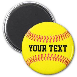 Fastpitch Softball Player Custom Team Name Sports Magnet