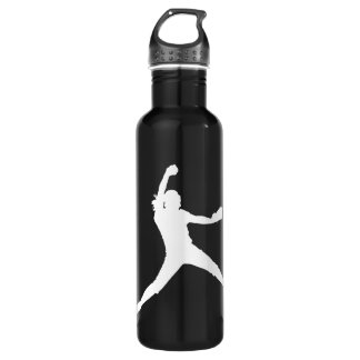 Fastpitch White Silhouette 710 Ml Water Bottle