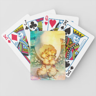 FAT AND SASSY EASTER HATCHLINGS BICYCLE PLAYING CARDS