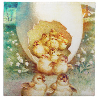 FAT AND SASSY EASTER HATCHLINGS NAPKIN