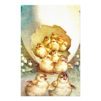 FAT AND SASSY EASTER HATCHLINGS STATIONERY