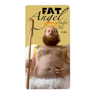 Fat Angel Amber Ale Shipping Label