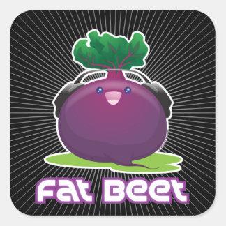Fat Beet Square Sticker