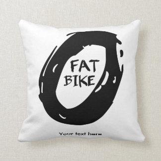 Fat Bike Throw Pillow