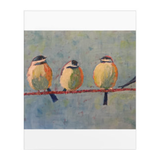 Fat Birds Acrylic Wall Art