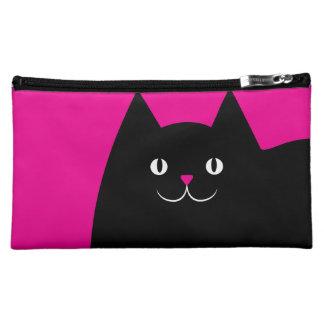 Fat Black Cat Makeup Bag