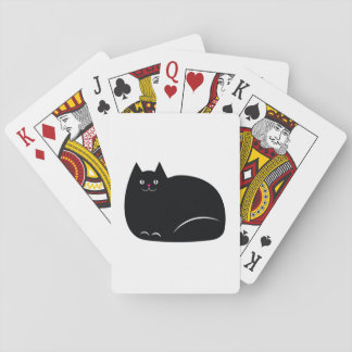 Fat Black Cat Playing Cards