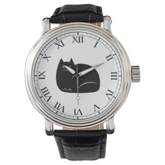 Fat Black Cat Wristwatch
