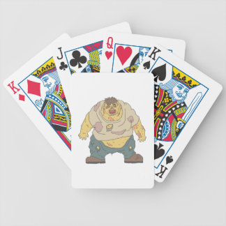 Fat Blind Creepy Zombie With Rotting Flesh Outline Bicycle Playing Cards