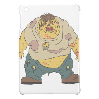 Fat Blind Creepy Zombie With Rotting Flesh Outline iPad Mini Cover