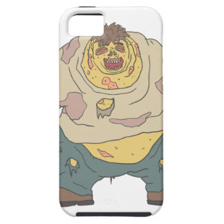 Fat Blind Creepy Zombie With Rotting Flesh Outline iPhone 5 Case