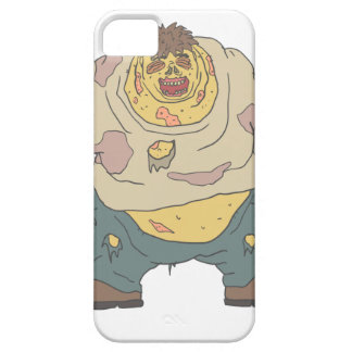 Fat Blind Creepy Zombie With Rotting Flesh Outline iPhone 5 Covers