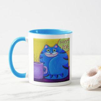 Fat Blue Cat Coffee Cup