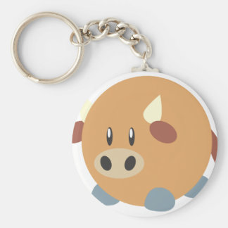 Fat Buffalo with a Round Body Keychain