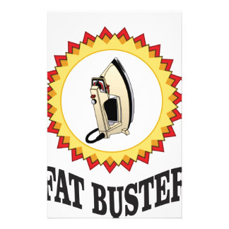fat buster iron personalized stationery
