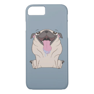 Fat Cartoon Pug Dog iPhone 7 Case
